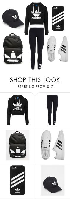 """sport outfit ⚽"" by iulia-ab ❤ liked on Polyvore featuring Topshop, adidas Originals and adidas"