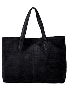 Suede Embossed Shopper Bag