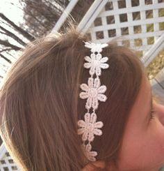Rustic Shabby Chic Daisy Headband-Shabby Chic Flower Headband-Flower Headband-BOHO CHIC-Country Flower Girl