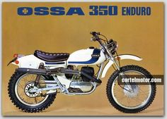 Ossa 350 Enduro Bike Poster, Motorcycle Posters, Motorcycle Art, Vintage Bikes, Vintage Motorcycles, Motocross Tracks, Old Bikes, Dirt Bikes, Off Road Bikes