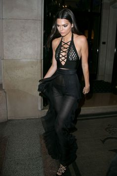 Kendall Jenner leaves the Four Seasons George V hotel to attend the Olivier Rousteing Dinner in Paris on Sept. 30, 2015.   - Cosmopolitan.com