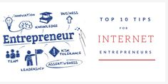 Internet Entrepreneurs Top 10 Tips for Internet Business Owners Internet Entrepreneur, Assertiveness, Leadership, Innovation, Knowledge, Business, Tips, Store, Business Illustration