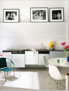 AKALT6 white living dining Eames DSR chairs
