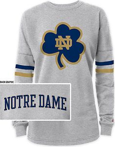 University of Notre Dame Women's RaRa Crewneck Sweatshirt | Fighting Irish | Shamrock