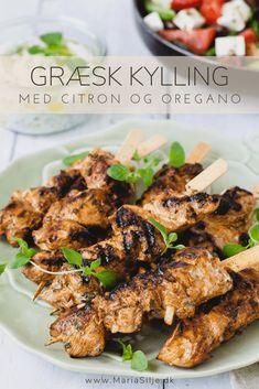 Græsk kylling på spyd
