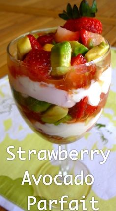Business Cookware Ought To Be Sturdy And Sensible Avocado Strawberry Parfait - Kids Love Strawberries And What A Yummy Way To Get Avocado Into Their Diets Breakfast Recipes, Snack Recipes, Vegetarian Recipes, Strawberry Parfait, Delicious Desserts, Yummy Food, Avocado Recipes, Yummy Eats, Healthy Snacks
