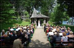 Boldt Castle wedding - right where I stood and married Walt