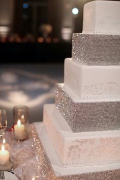 using diamond wrap on your cake,  brilliant!