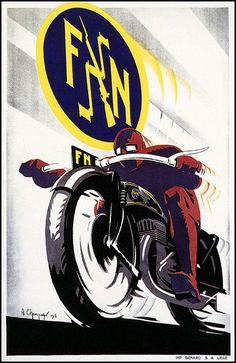 FN Motorcycles 1930's by bullittmcqueen, via Flickr #illustration #motorcycles | caferacerpasion.com