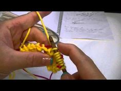 Knook Knooking: Increase Yarn Over (YO) Between Two Purl Stitches (P RL)