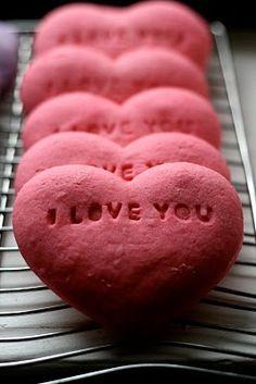 conversation heart sugar cookies....