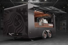 Starbucks pop up Store on Behance Starbucks, Coffee Food Truck, Food Truck Design, Grill Design, Coffee Trailer, Mobile Food Trucks, Cold Brew Iced Coffee, Mobile Catering, Coffee Business