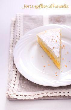 Torta soffice all'arancia con crema all'arancia