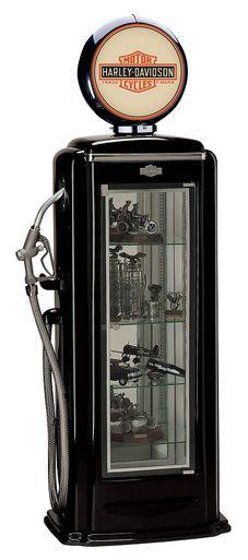Harley Davidson Premium Gas Pump Display Case (Black)