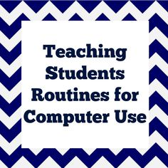 Teaching Students Routines for Computer Use These are exactly the procedures I used when I was in the elementary computer lab. All spot-on! Elementary Computer Lab, Computer Lab Lessons, Computer Teacher, Computer Class, Technology Lessons, Teaching Technology, Computer Technology, Computer Science, Computer Lab Design