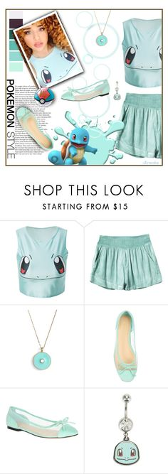 """Squirtle"" by ultracake ❤ liked on Polyvore featuring Seed Design, RVCA, Kate Spade, John Lewis, Nintendo, Blue, Pokemon, squirtle and ultracake"