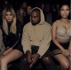 Kylie Jenner, Kanye, and Nicki Minaj front row at Alexander Wang