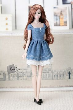 Clear lan dresses for doll Momoko clothes Nippon Misaki clothes Blythe clothes Lati-Yellow clothes doll clothes Doll Dress Patterns, Barbie Patterns, Clothing Patterns, Barbie Fashionista Dolls, Diy Barbie Clothes, Yellow Clothes, Barbie Dress, Doll Accessories, Fashion Dolls