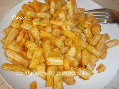 Fazuľky na cibuľke s paprikou a chilli
