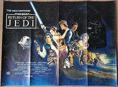 Star wars return of the jedi 1983 #original #british quad movie film #poster ,  View more on the LINK: http://www.zeppy.io/product/gb/2/201816353592/
