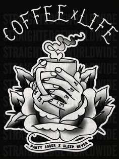 death before decaf Coffee Is Life, Coffee Love, Goth Memes, Death Before Decaf, Pop Art Wallpaper, Coffee Tattoos, Caffeine Addiction, Sober Life, Hand Embroidery Patterns