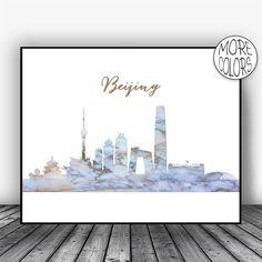 Beijing Skyline, Beijing Print, Beijing China, Marble Art Print, Living Room Decor, Modern Art Print, Watercolor City Posters, ArtPrintsZoe #ModernArtPrint #ArtPrintsZoe #Beijing #LivingRoomDecor #BeijingChina #BeijingSkyline #BeijingPrint #ArtPrint #ModernArt #WatercolorCity