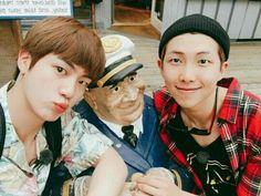"bts_twt ""mon-ah happy birthday my brother"" jin and namjoon Taehyung, Jimin Jungkook, Bts Jin, Bts Bangtan Boy, Seokjin, Hoseok, Namjin, Yoonmin, Jung Kook"
