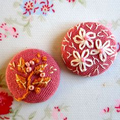 embroidered buttons - these make really sweet little brooches as well
