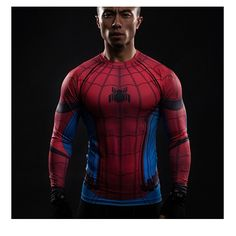 ZOOM Printed T-shirts Men Raglan Long Sleeve Compression Shirt Flash Cosplay Costume crossfit fitness Clothing Tops Male Compression Clothing, Compression T Shirt, 3d T Shirts, Gym Shirts, Spiderman Shirt, Venom Spiderman, Spiderman Costume, Super Hero Shirts, Spandex
