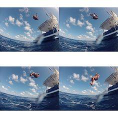 Having fun on a windless days #sailing