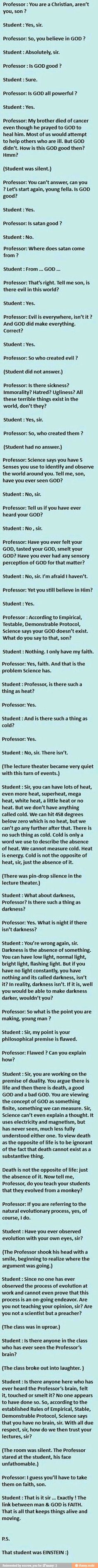 Einstein vs teacher