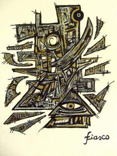 """#RT #art #drawing   """"Occupation de l'espace"""" by fiasco. Encre sur papier. pic.twitter.com/3w5lqO2Vbg"""