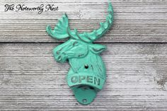 A personal favorite from my Etsy shop https://www.etsy.com/listing/454608318/custom-color-iron-moose-bottle-opener