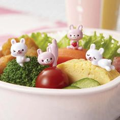 Buy Bento Pink & White Bunny Food Picks and other fun kids bento lunch ideas and gifts. Flat rate shipping or FREE delivery on orders over $150
