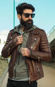 #mens #fashion / brown leather
