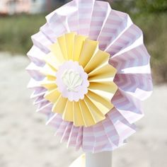 Cute paper decoration for beach birthday!