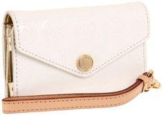 MICHAEL Michael Kors Metallic Phone Wristlet Wristlet Handbags - White