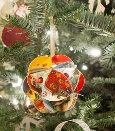 Old Christmas-Card-Globe-Ornament