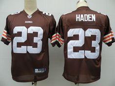 2013 New Cleveland Browns #23 Joe Haden Drift Fashion Brown Elite Jersey