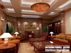 3 Creative And Inexpensive Useful Tips: False Ceiling Bedroom Lighting false ceiling design built ins.False Ceiling Home Dining Rooms unique false ceiling ideas.False Ceiling Section Interior Design. Small Living Rooms, Living Room Modern, Living Room Interior, Roof Ceiling, Kitchen Ceiling Lights, False Ceiling Living Room, Living Room With Fireplace, Led Light Design, Lighting Design
