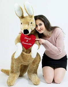 Surprise your loved one with this stunning giant #ValentineDayStuffedAnimal! Kangaroos make wonderful gifts - 10 Valentine's Day Plush Animals for your Girlfriend - Holly Day
