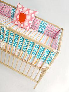 Crib Bumper Set  Bumper Guards  Bumper Pads  Crib by AuntBucky, $175.00