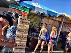 Play some GIANT Jenga with our friends from KRAVE JERKY