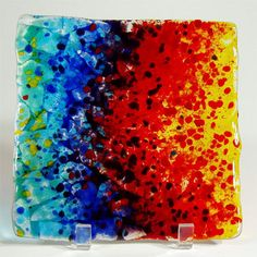 Square Fused Glass Plate :: Brenda Griffith Fused Glass