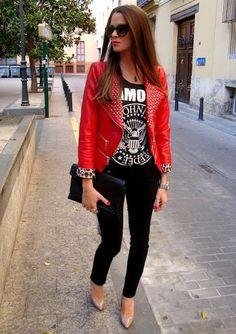 Rock chic fashion | #clairetaylor