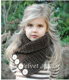 CROCHET PATTERN Remington Cowl Toddler Child von Thevelvetacorn