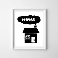 Home, home printable, home print, home art, kids room decor, printable nursery decor, typography, nursery quote, digital file