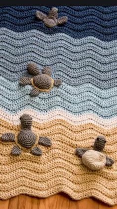 Cute baby sea turtle blanket for the little one!
