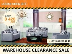The Lucas sofa set was designed and crafted to be shown in any modern living space. Upholstered in gray pleasant to touch fabric, these sofas are versatile and can be placed with different décor styles. Designed to be used for years to come this set includes a three-seater sofa, two-seater sofa and an armchair. Local pickup only! For more details contact: +971 55 228 4240