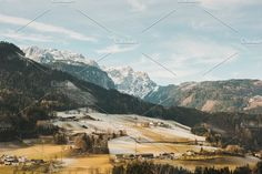 Alpine Hills in Winter by Ines Perković on @creativemarket